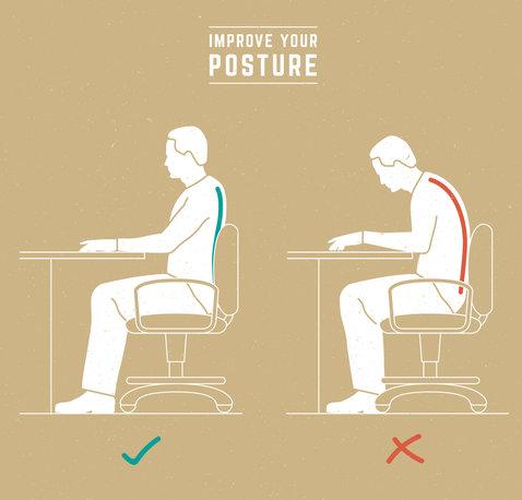 poprawna pozycja siedząca